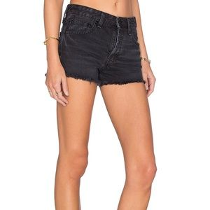 Free People Uptown Grey Shorts Blackbird Sz 25